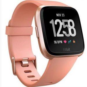 Fitbit Versa Fitness Watch Peach Rose Gold Aluminium